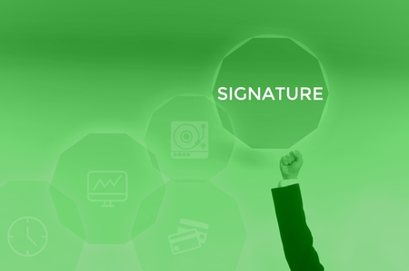 SIGNATURE - technology and business concept
