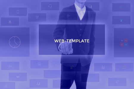 WEB-TEMPLATE - technology and business concept