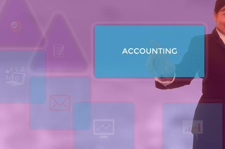 select ACCOUNTING - technology and business concept