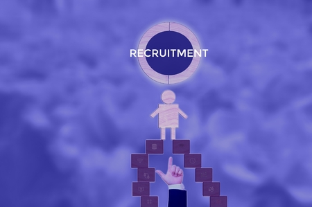 RECRUITMENT - technology and business concept
