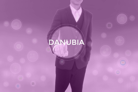 DANUBIA - technology and business concept Фото со стока