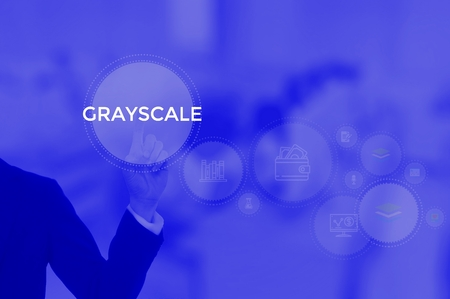 GRAYSCALE - technology and business concept Фото со стока