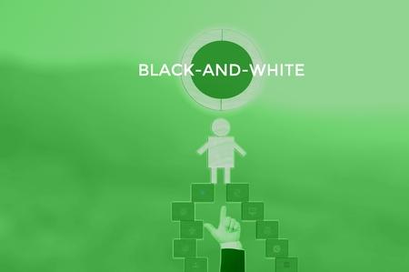 select BLACK-AND-WHITE - technology and business concept Фото со стока