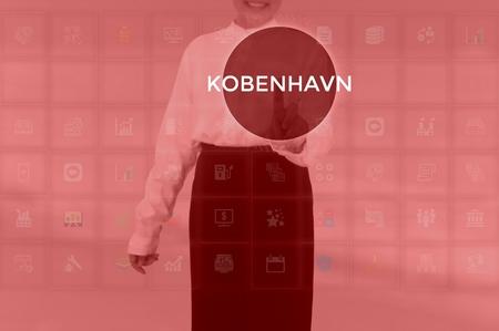 KOBENHAVN - technology and business concept Фото со стока