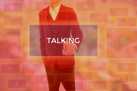 TALKING - technology and business concept