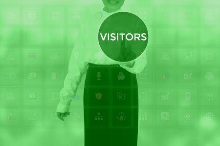 VISITORS - technology and business concept Фото со стока
