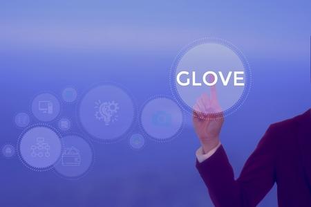 GLOVE - technology and business concept Фото со стока