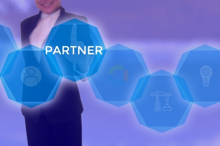 PARTNER - technology and business concept