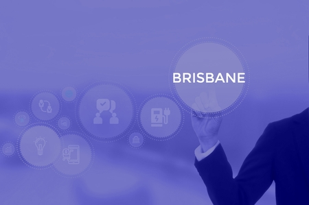 select BRISBANE - technology and business concept Stock Photo