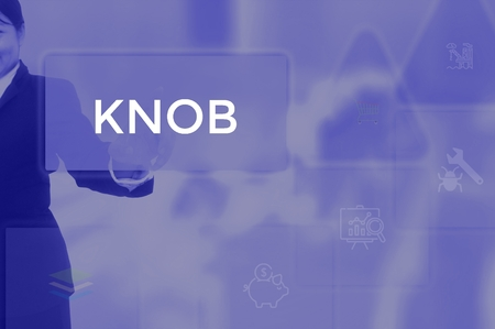 KNOB - technology and business concept