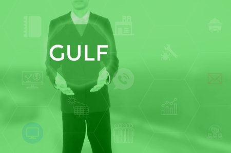 GULF - technology and business concept Stock Photo