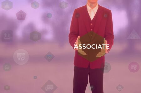 ASSOCIATE - business concept presented by businessman