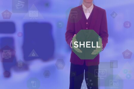 SHELL - technology and business concept