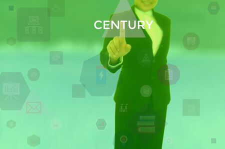 CENTURY - business concept presented by businessman