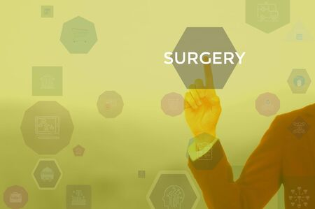 SURGERY - business concept presented by businessman