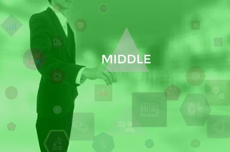 MIDDLE - technology and business concept Stock Photo