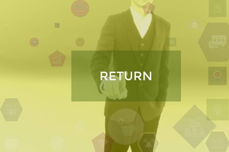 RETURN - business concept presented by businessman