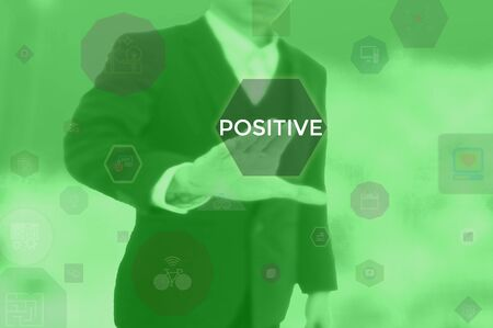 POSITIVE - business concept presented by businessman