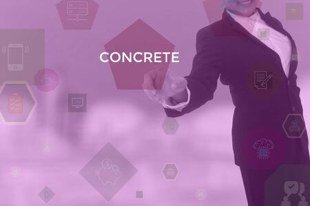 CONCRETE - business concept presented by businessman