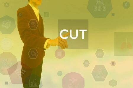 CUT - business concept presented by businessman