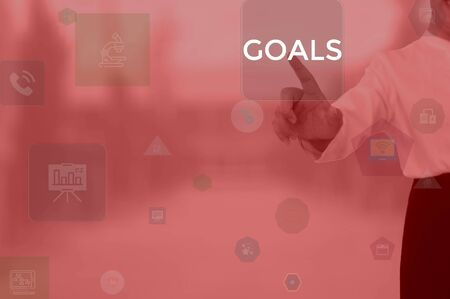 GOALS - technology and business concept Stock Photo