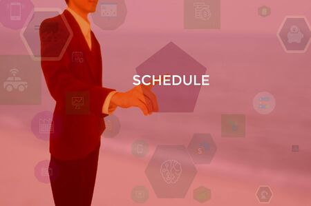 SCHEDULE - business concept presented by businessman