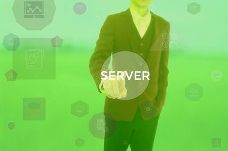 SERVER - technology and business concept Stock Photo