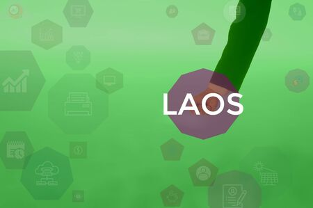 LAOS - technology and business concept Stock Photo