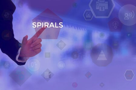SPIRALS - technology and business concept Stock Photo