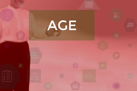 AGE - business concept presented by businessman