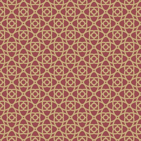 giftwrap: Red and Gold geometrical Pattern for your wallpaper or giftwrap. Vector template