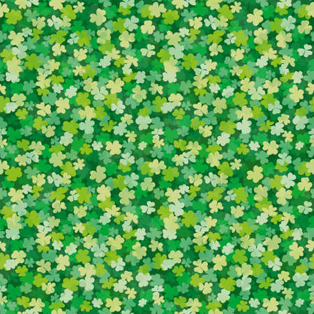 seamless clover: seamless Clover leaves background pattern for your design Illustration