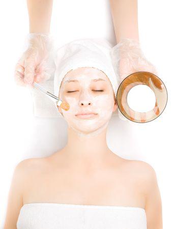 masked woman: Foto de una ni�a en procedimientos de spa