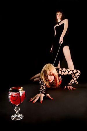 Master and slave vampiress Stock Photo - 6400413