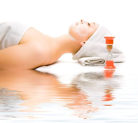 Picture of a girl at spa procedures photo