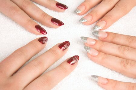 women's hands: Womens hands with manicure