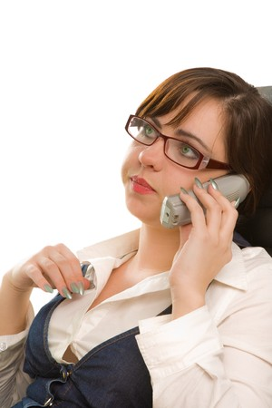 appointee: Beautiful businesswoman calling to phone