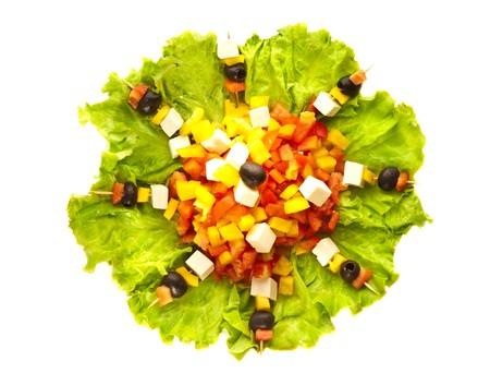 Greek salad closeup photo
