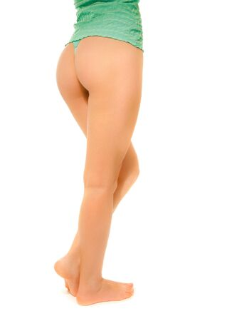 Beautiful womans legs isolated photo