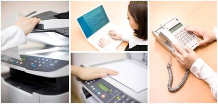 fotocopiadora: Collage de Oficina de cuatro im�genes