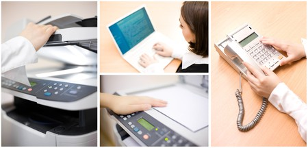 Office collage made of four images Stock Photo - 8054665