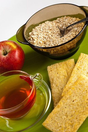 Picture of served healthy breakfast photo