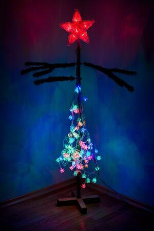 Semi-dressed Christmas tree photo