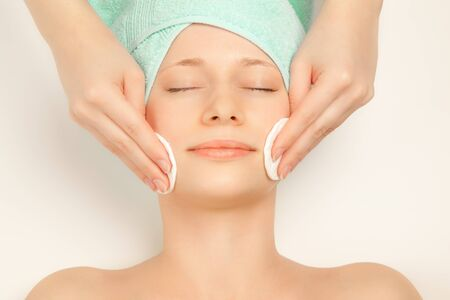 Picture of woman at spa procedures Stock Photo - 8575883