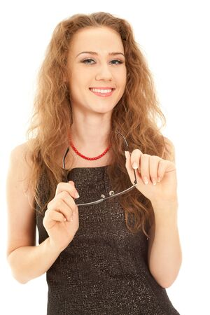 Beautiful  woman looking to the camera and laughing Stock Photo - 8688612