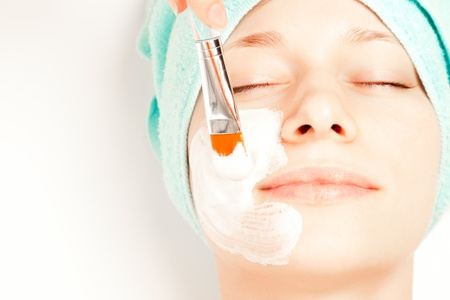 Picture of a woman at spa procedures photo