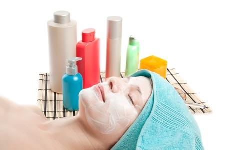 Picture of woman at spa procedures photo