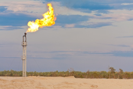 gas burner: Oil gas flare