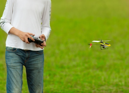 radio activity: RC model hobby (flying helicopter model)