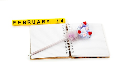 Picture of notebook and a violet pen Stock Photo - 12041736